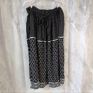 ELOQUII Printed Tie Waist Maxi Skirt
